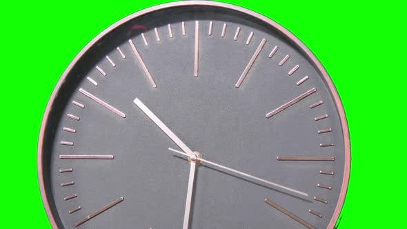 Thumbnail for Modern Clock Face Fast Time Lapse on Green Screen
