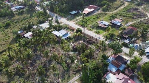 Aerial 4k footage Malays kampung