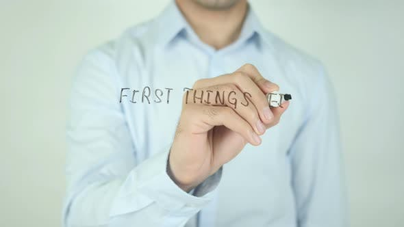 First Things First, Writing On Screen