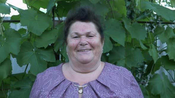 Thumbnail for Senior woman smiles to the camera, portrait. Elder retired woman smiling