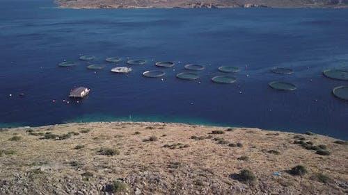Fish Farm at Mediterranean Sea