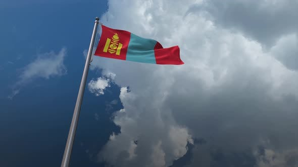 Mongolia Flag Waving 4K