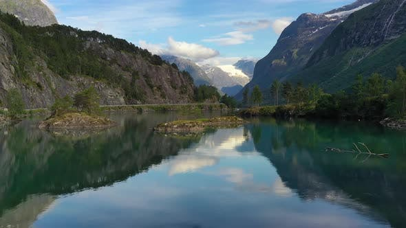 Thumbnail for Beautiful Nature Norway Natural Landscape Lovatnet Lake.