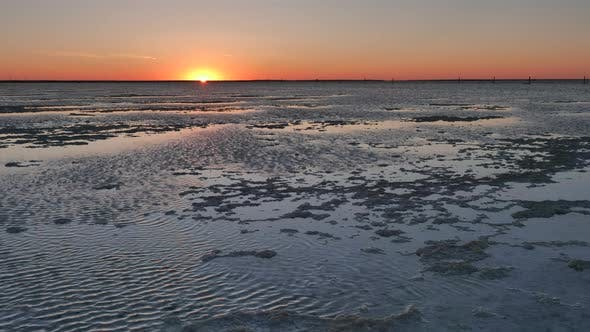 View of salt lake Baskunchak in Astrakhan region, Russia.