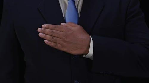 Business Man Hand Pledge