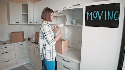 Melancholy Female Moves Out Flat