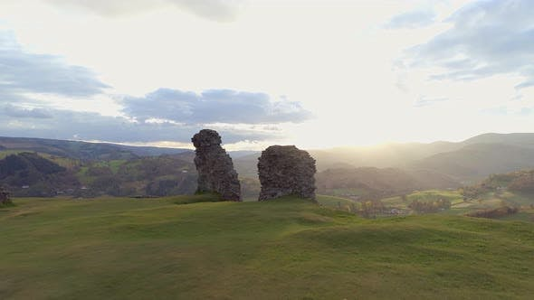 The Ruins of Castell Dinas Bran in Wales