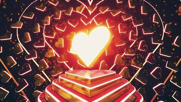 Glowing Heart Stage