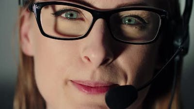 Female Technical Support Operator With Headset