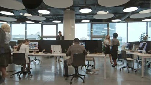 Businesspeople Working in Modern Office