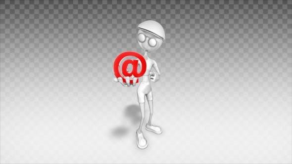 Thumbnail for Cartoon 3D Man - Show Email