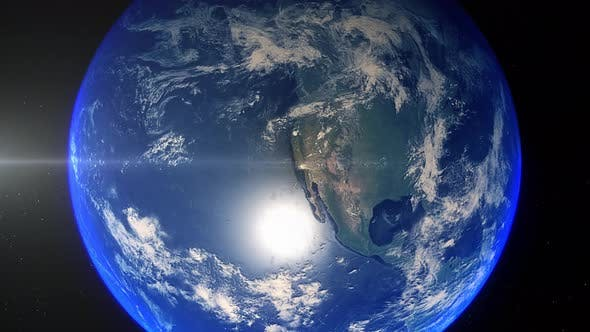 Realistic Earth Zoom Out Clouds United States Of America California Los Angeles