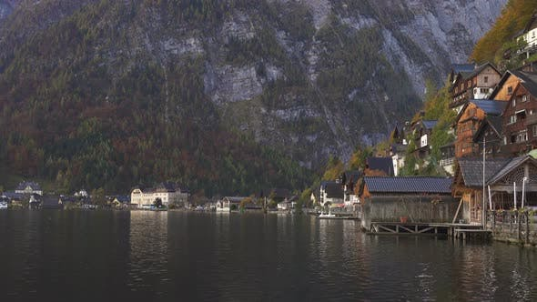 View Of Beautiful Austrian Mountains Village Hallstatt 7