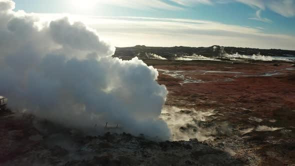 Thumbnail for Gunnuhver Geothermal Area at Sunset, Reykjanes Peninsula, Iceland