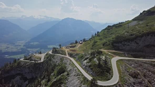 Aerial View of Loser Panoramic Road, Austria