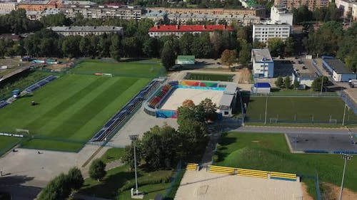 Sports Complex in the Center of Minsk with Open Stadiums for games.Belarus