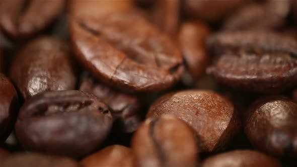 Thumbnail for Beautiful Aromatic Coffee Beans Rotating on Showcase, Quality Examination