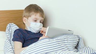 Diseased Boy Has a Flu