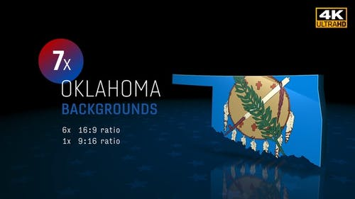 Oklahoma State Election Backgrounds 4K - 7 Pack