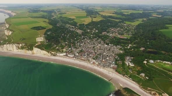 Thumbnail for Etretat City Aerial Panorama