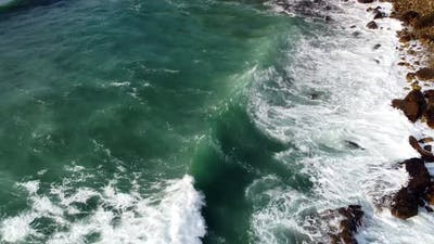 Waves In Sea, Aerial View