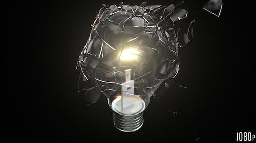Lightbulb Breaking Closeup