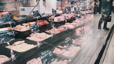 Meat Department in Supermarket