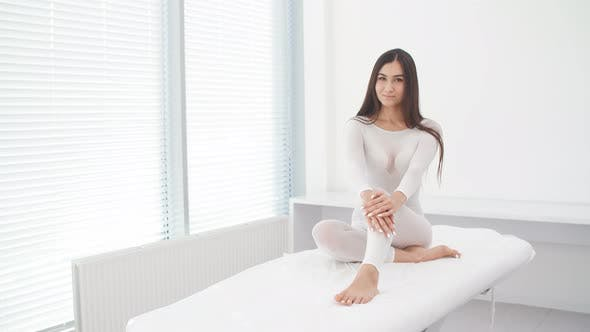 Thumbnail for Beautiful Young Girl Visiting the Procedure of Anti-cellulite Massage in Office of Cosmetology