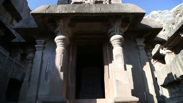 Thumbnail for View at the entrance of one of the rooms of Aurangabad caves.