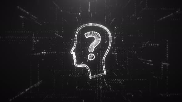 Thumbnail for Digital Animation of the Head with Question Mark