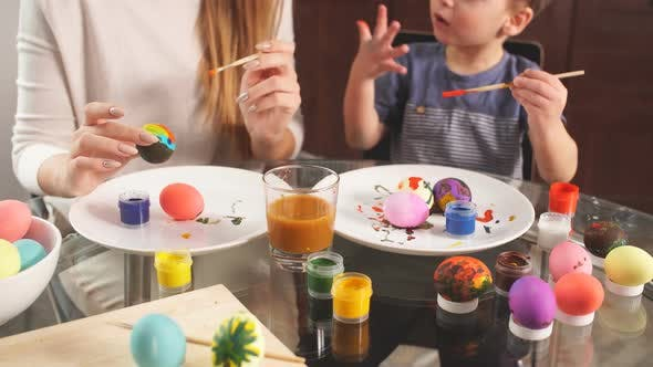 Thumbnail for Family Prepares for Holiday. Easter and Happy Moments Concept