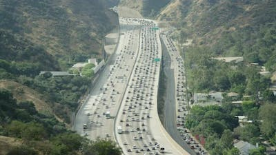 Highway and hills in California