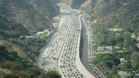 Thumbnail for Autobahn und Hügel in Kalifornien