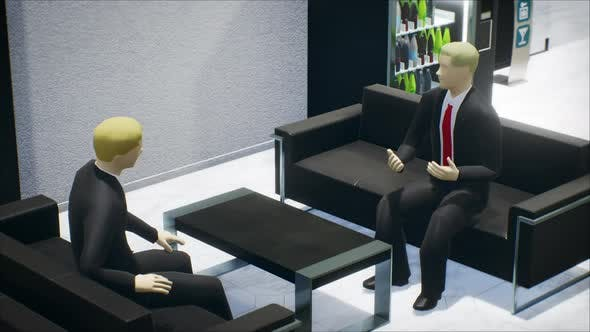 Office Talking Two Business Men 02