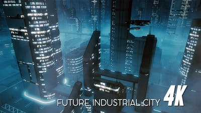 Future Industrial City 4K