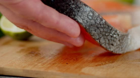 Salmon Steak Put on the Table