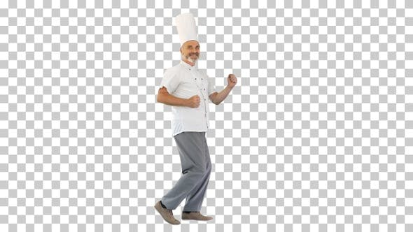 Thumbnail for Funny male chef cook dancing, Alpha Channel