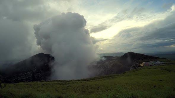 Masaya Volcano Crater in Nicaragua