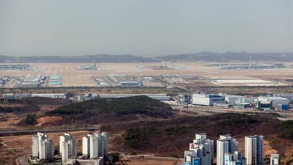 Thumbnail for Korea, Incheon Airport Airline Establishing Shot