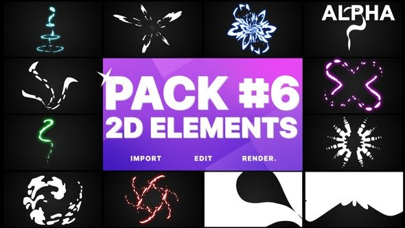 Thumbnail for Elements Pack 06 | Motion Graphics Pack