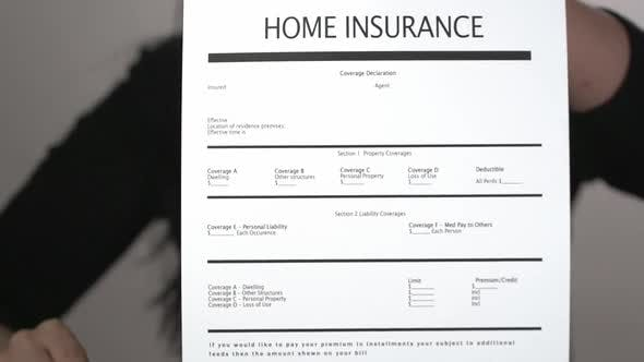 Home Insurance Agent Explain Form