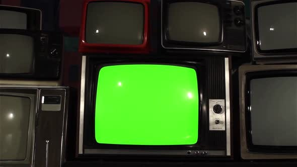 Thumbnail for Vintage TV with Green Screen.