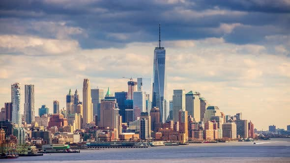 Thumbnail for Freedom Tower and New York City Time Lapse