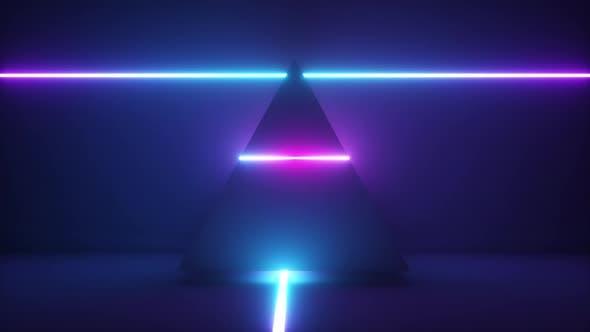 Thumbnail for Leuchtende Neonlicht-Pyramide