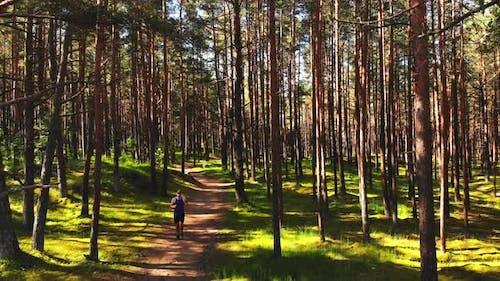 Caucasian Overweight Tired Runner Run Hard In Nature
