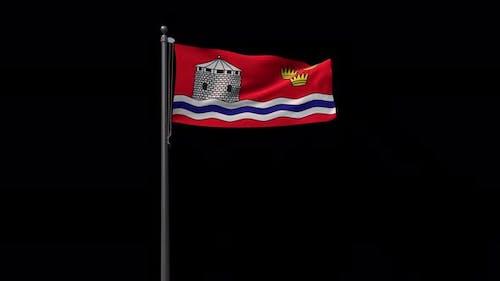Kingston City Flag With Alpha 4K