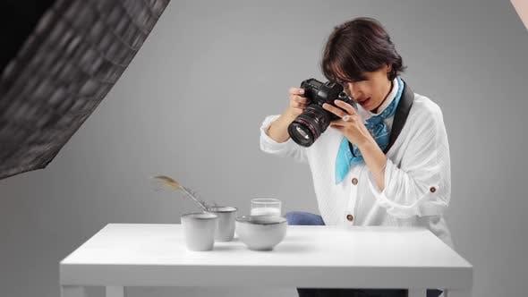 Photographer Shooting at Studio