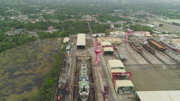 Thumbnail for Shipyard with crane,Batangas, Philippines, Luzon
