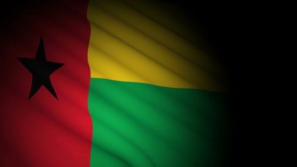 Guinea Bissau Flag Blowing in Wind