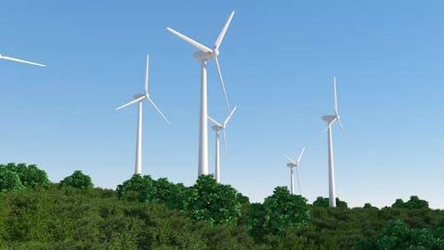 wind turbine generating clean renewable energy. alternative energy sources